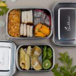 Sattvii Edelstahl Eco Lunchbox Brotdose small gefuellt klein