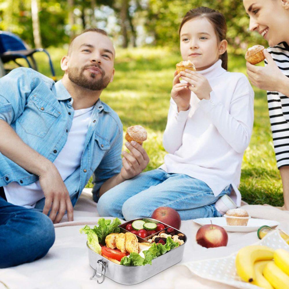 Baban Brotdose Edelstahl Trennwand 1400ml picknick