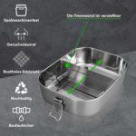 Blockhütte Premium Edelstahl Brotdose 1400ml