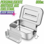 SHINYO Edelstahl Brotdose, Personalisierbar, 800 ml